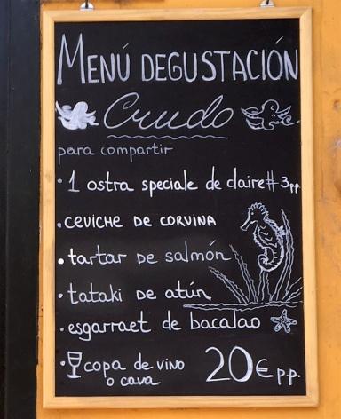 Crudo Bar Menu Degustacion