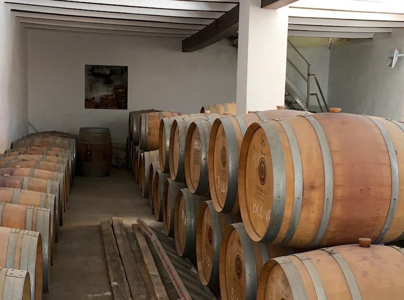 Vera de Estenas wine barrels