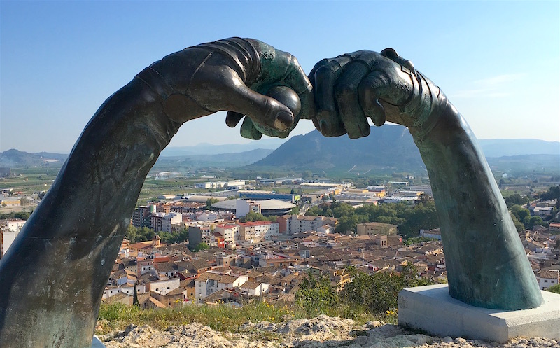 Arc Daurat sculpture Xativa Spain