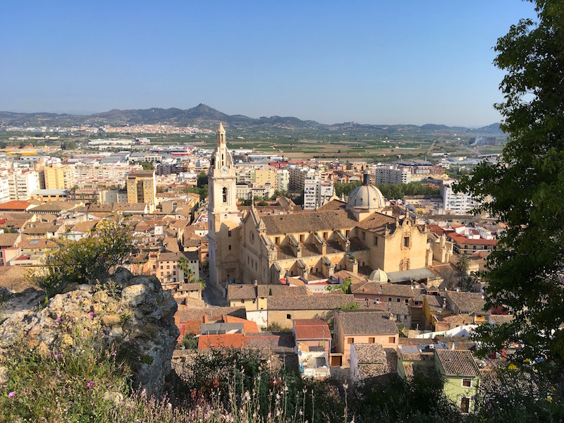 Xativa Spain view over city