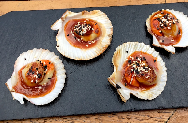 Scallops in Spicy Paprika Sauce Atlantico Valencia