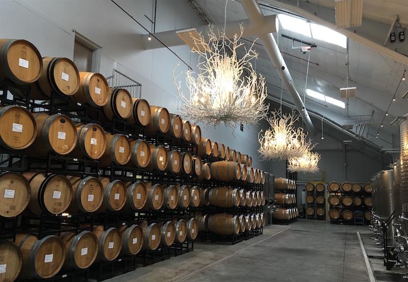 Big Cork Vineyards Barrel Room Maryland Winery