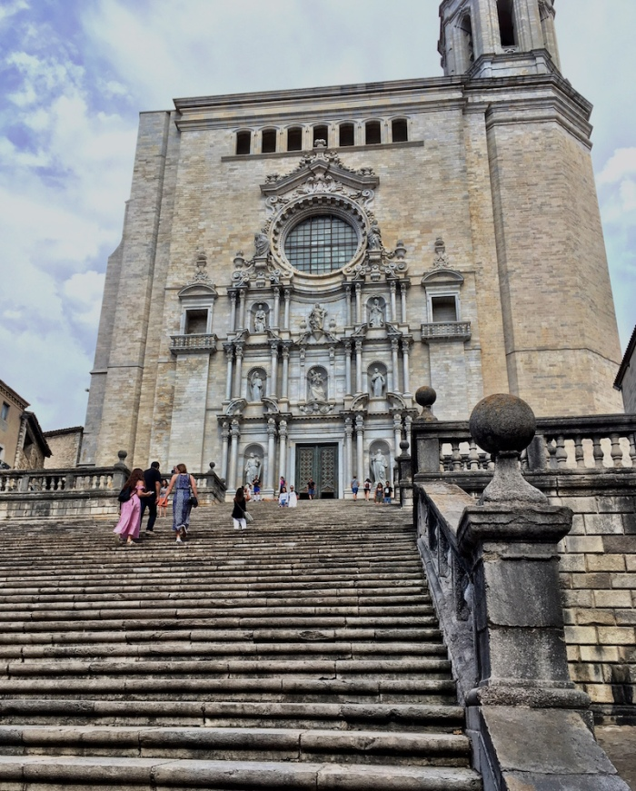 Girona cathedral steps Spain