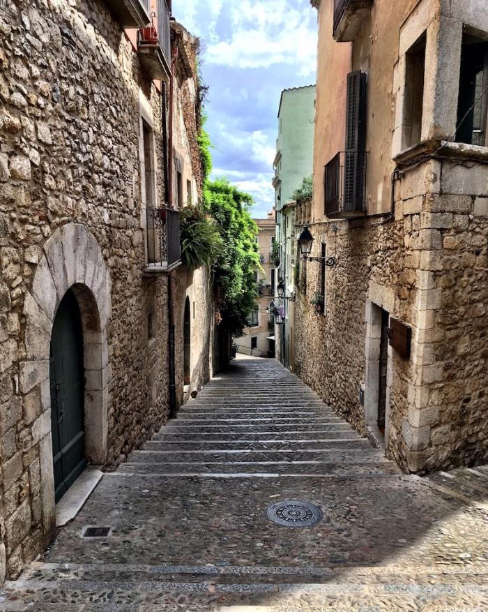 Girona Spain city streets