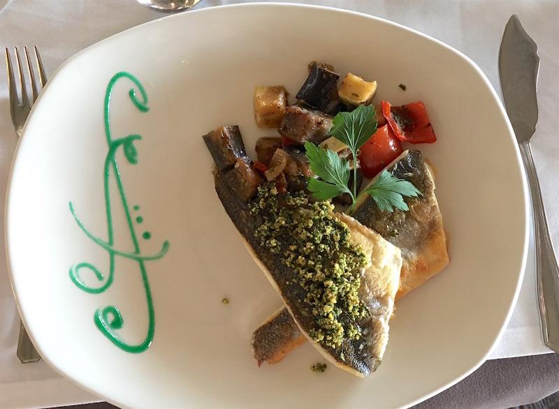 lubina plancha grilled sea bass El Mirador de Sagunto