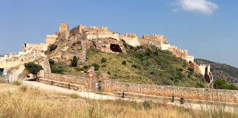 Castle overlooking Sagunto Spain Valencia