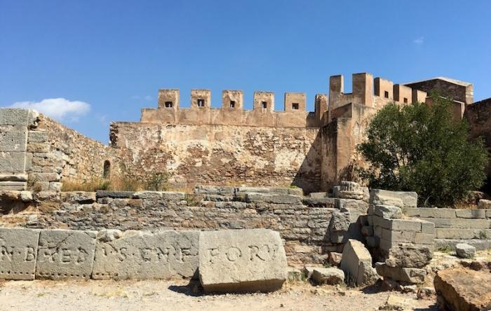 Sagunto castle Roman Forum Epigraphs Spain