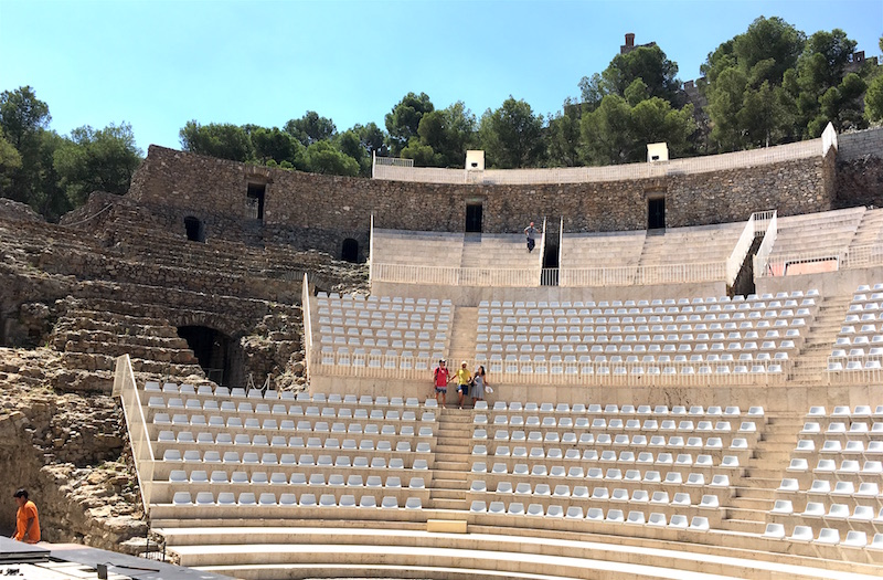 Sagunto Roman theatre seating