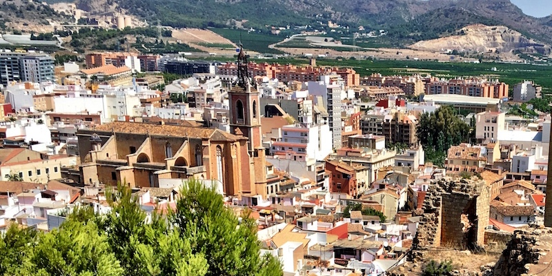 View over Sagunto Spain