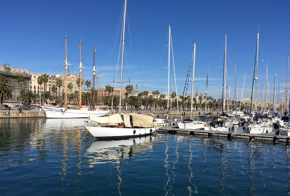 Sailboats Barcelona Marina Spain
