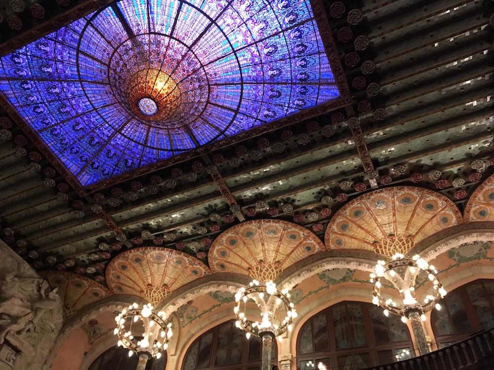 Palau Musica ceiling details