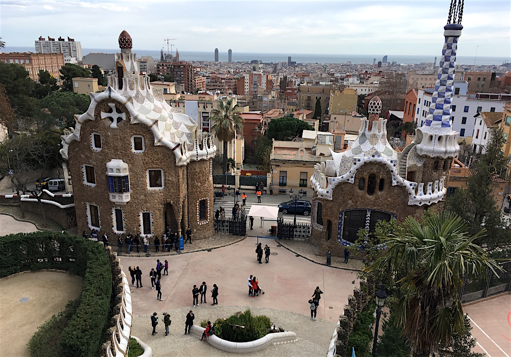 Parc Guell Monument zone barcelona spain