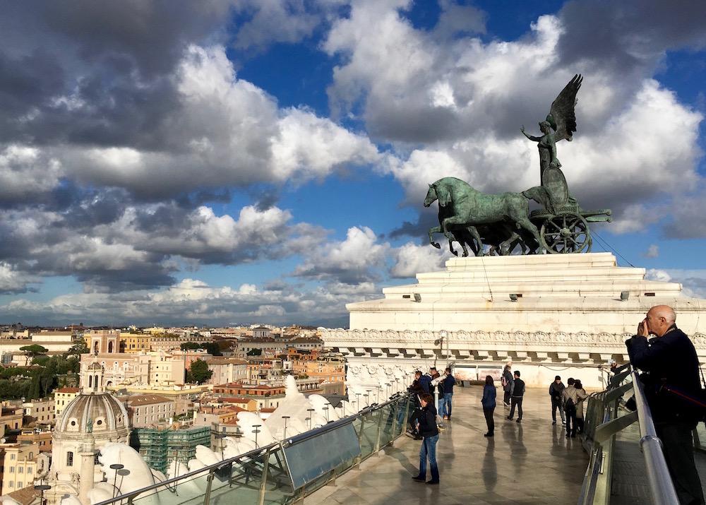Altare della Patria roof Rome Italy