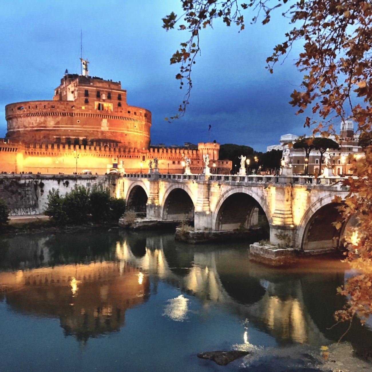St. Angelo Bridge Rome Italy
