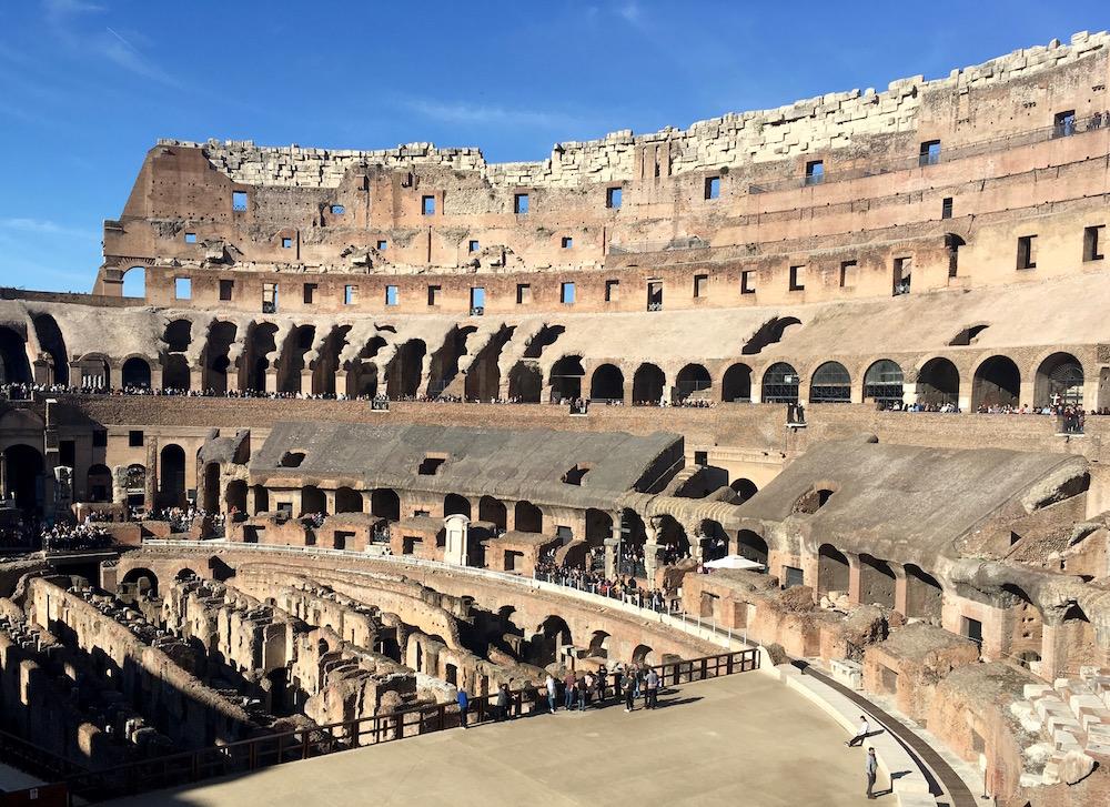 Roman Colosseum Interior Rome Italy