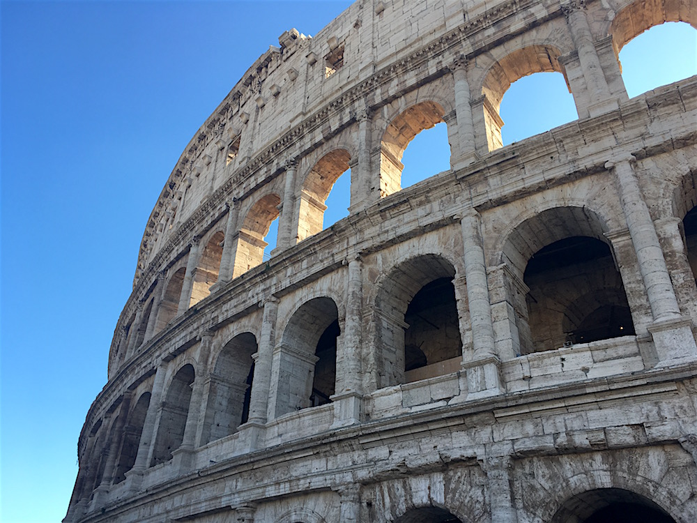 Roman Colosseum Facade Detail Rome Italy