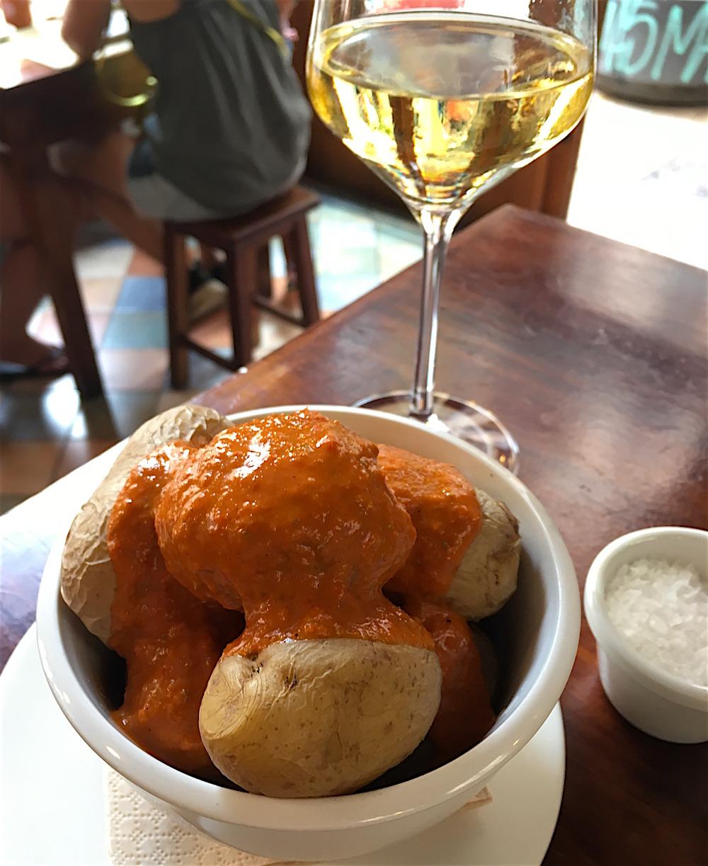 Potatoes with Mojo Sauce Taberna La Senia Valencia Spain