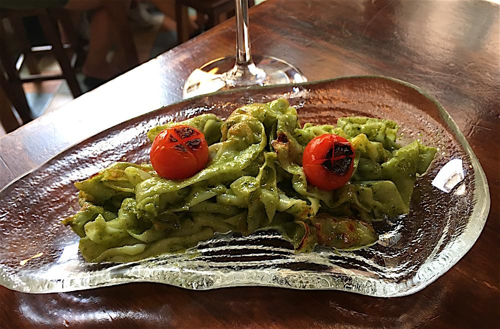 Pasta of Sepia Pesto Taberna La Senia Valencia Spain