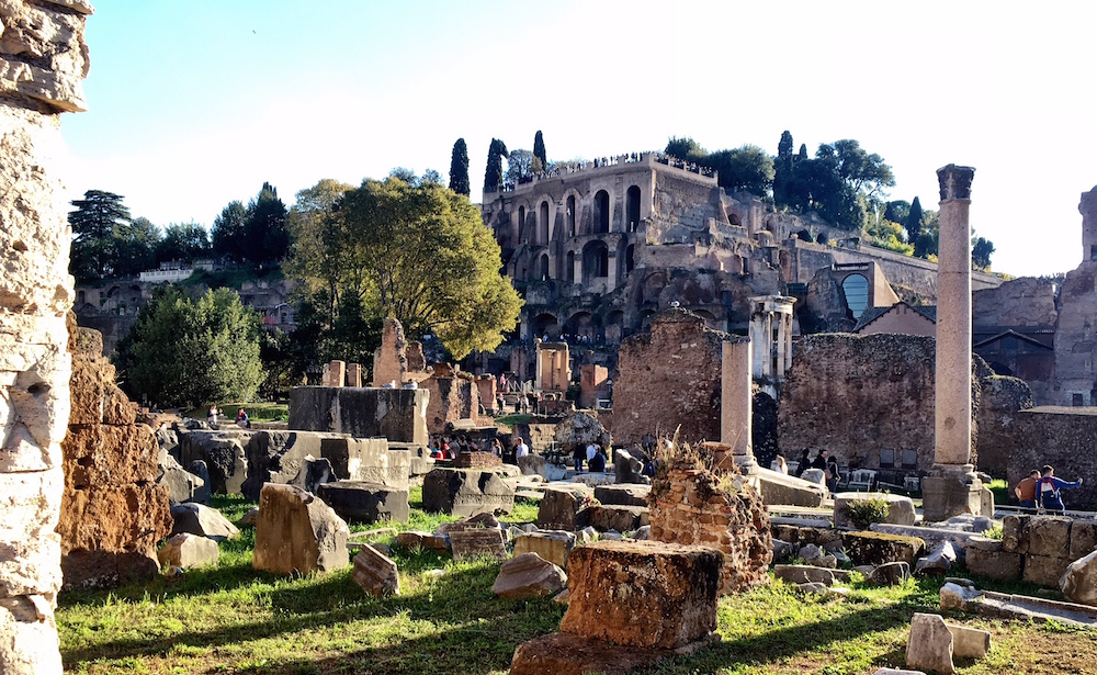 Palatine Hill Roman Forum Rome Italy