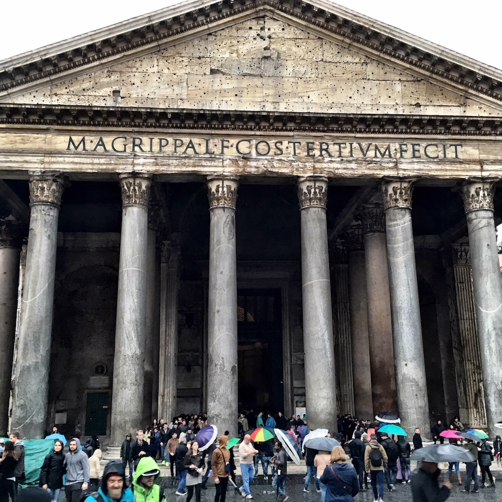 Pantheon rainy day Rome Italy
