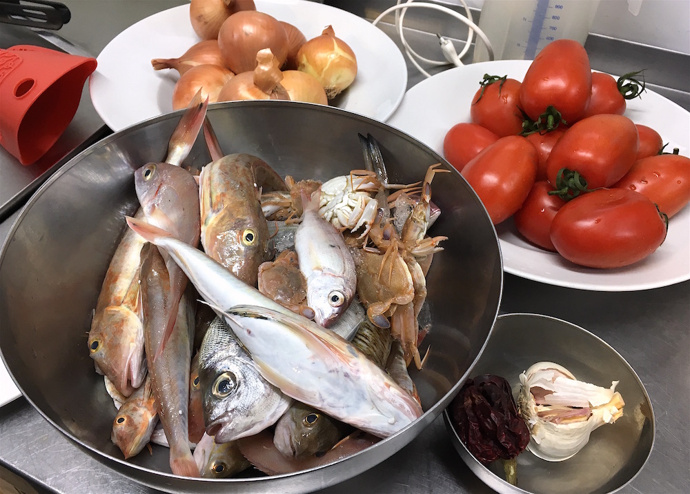 School Seafood stock ingredients