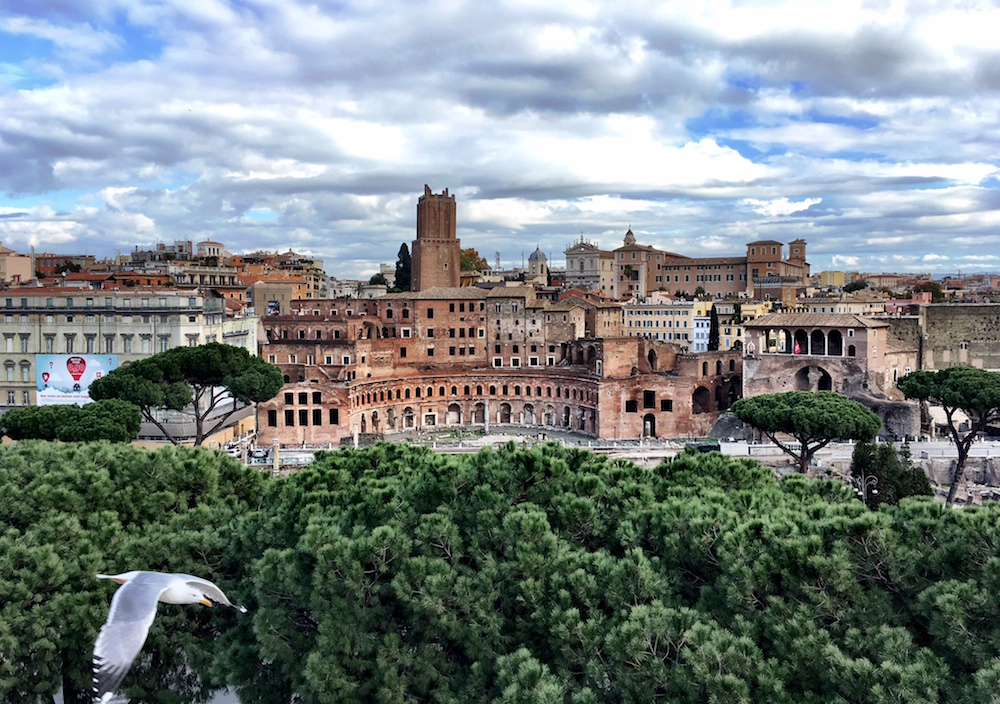View over Rome Italy