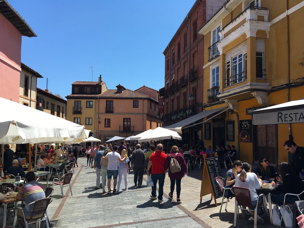 Plaza San Martin Barrio Humedo Leon Spain