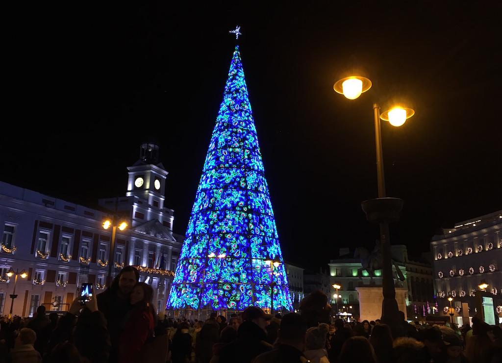 Puerta de Sol Madrid Christmas Tree