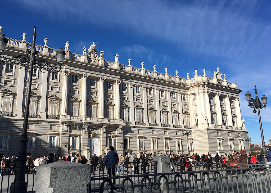 Royal Palace sight seeing in Madrid Spain