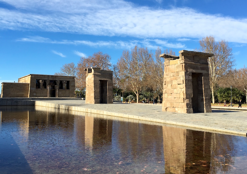 Templo de Debod Egyptian temple madrid spain