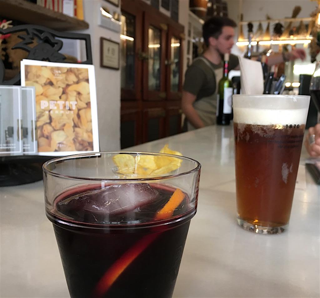 Petit Vermut at the bar Anyora Bodega