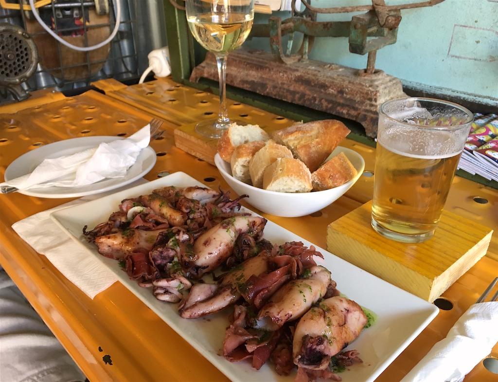 grilled sepia with ham La Fabrica Valencia