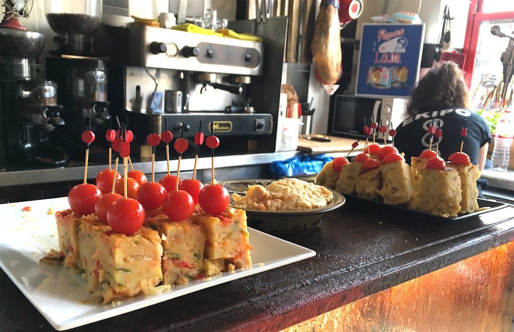 tortilla pinchos Bodega La Peseta