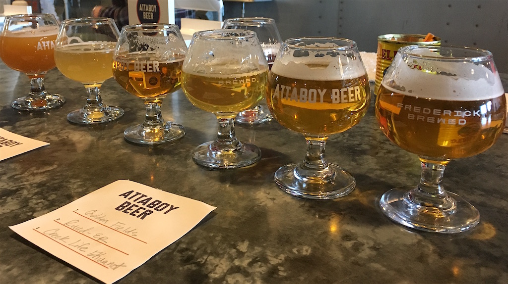 Attaboy Beer Tasting Flight