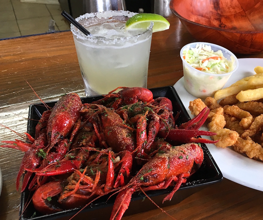 crawfish and margarita crab stop sebastian florida