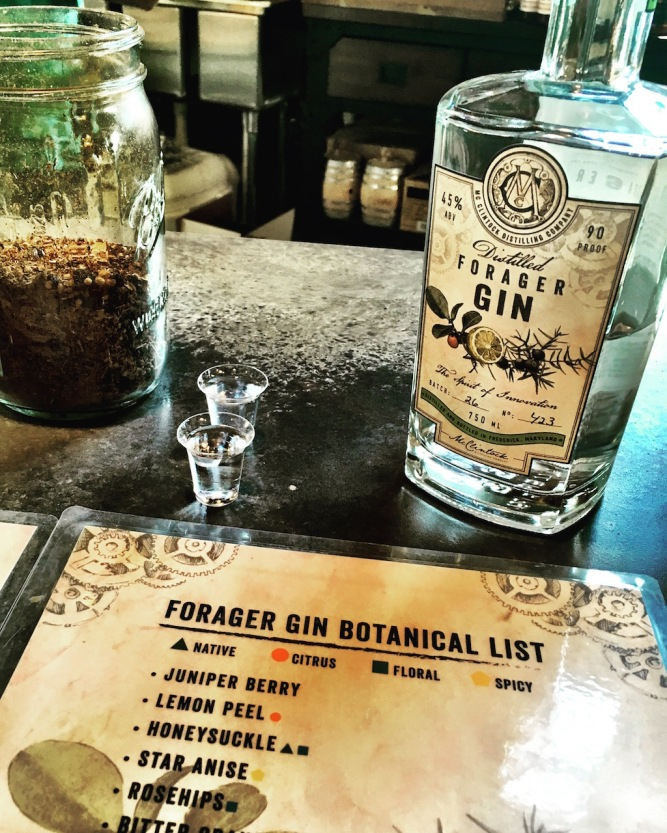 McClintock Distillery Forager Gin Frederick Maryland