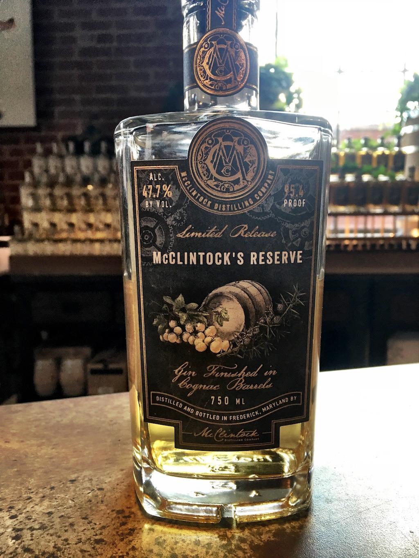 McClintock's Reserve Gin Barrel Aged Frederick Maryland
