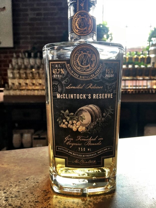 McClintock's Reserve Gin Barrel Aged Frederick Maryland