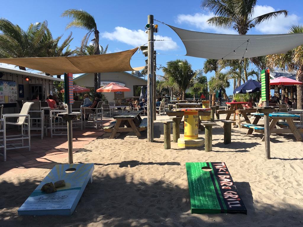 Tiki Bar Cornhole Games Sebastian Florida