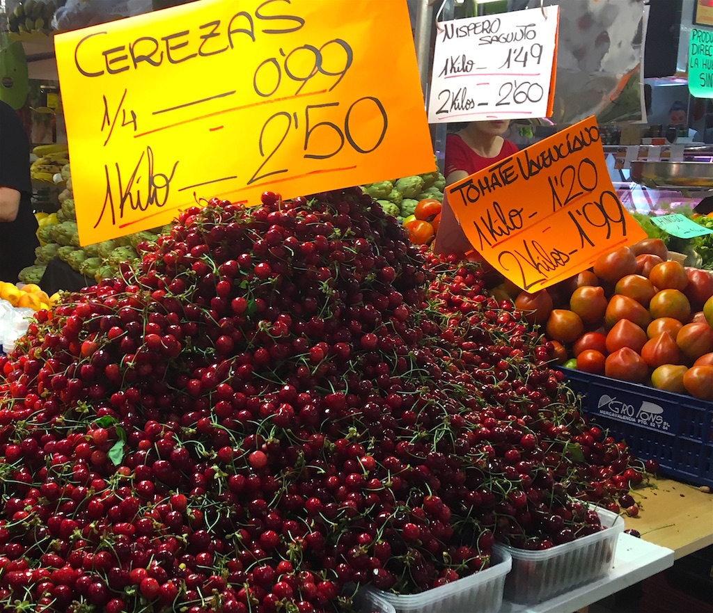 Cherries cerezas mercado valencia