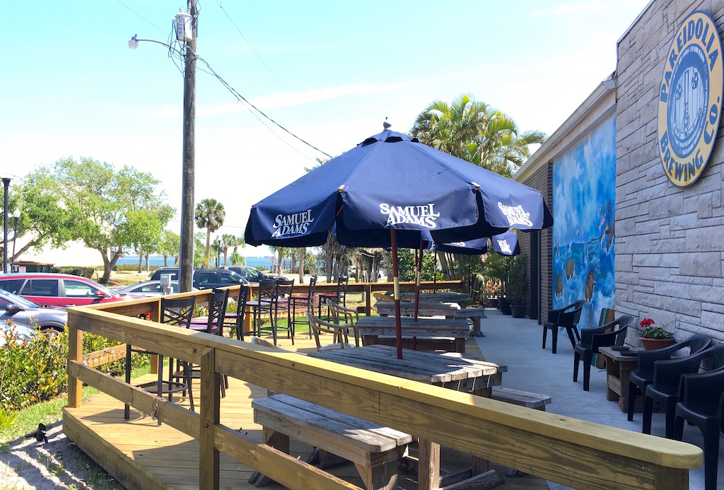 Pareidolia Brewing deck Indian River Florida