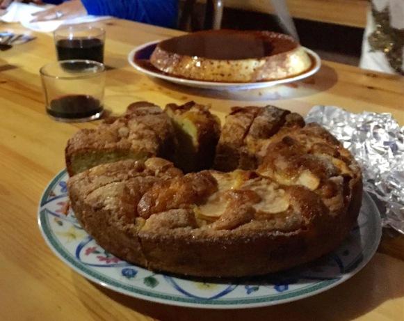 Apple Cake and Flan