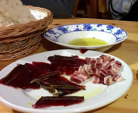 Cecina and Pancetta