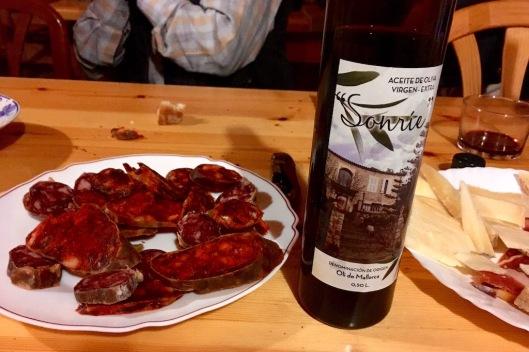 Chorizo, Salchichon, and Olive Oil