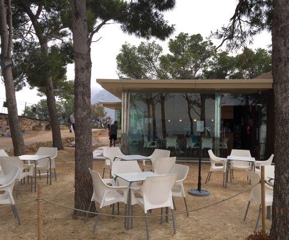 Cafe at the top of the castle grounds