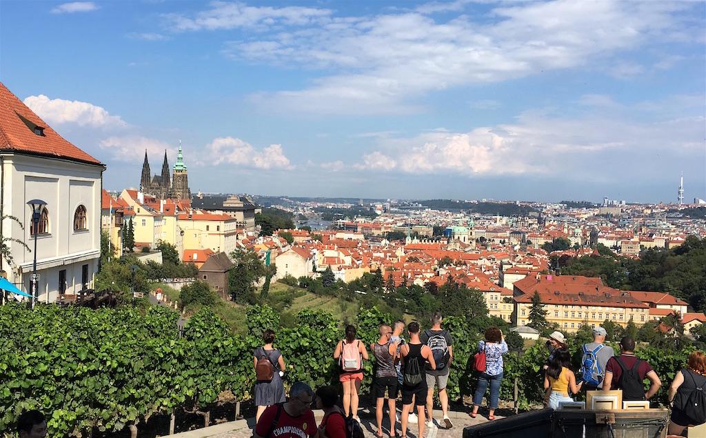 Bellavista restaurant view of Prague Czechia