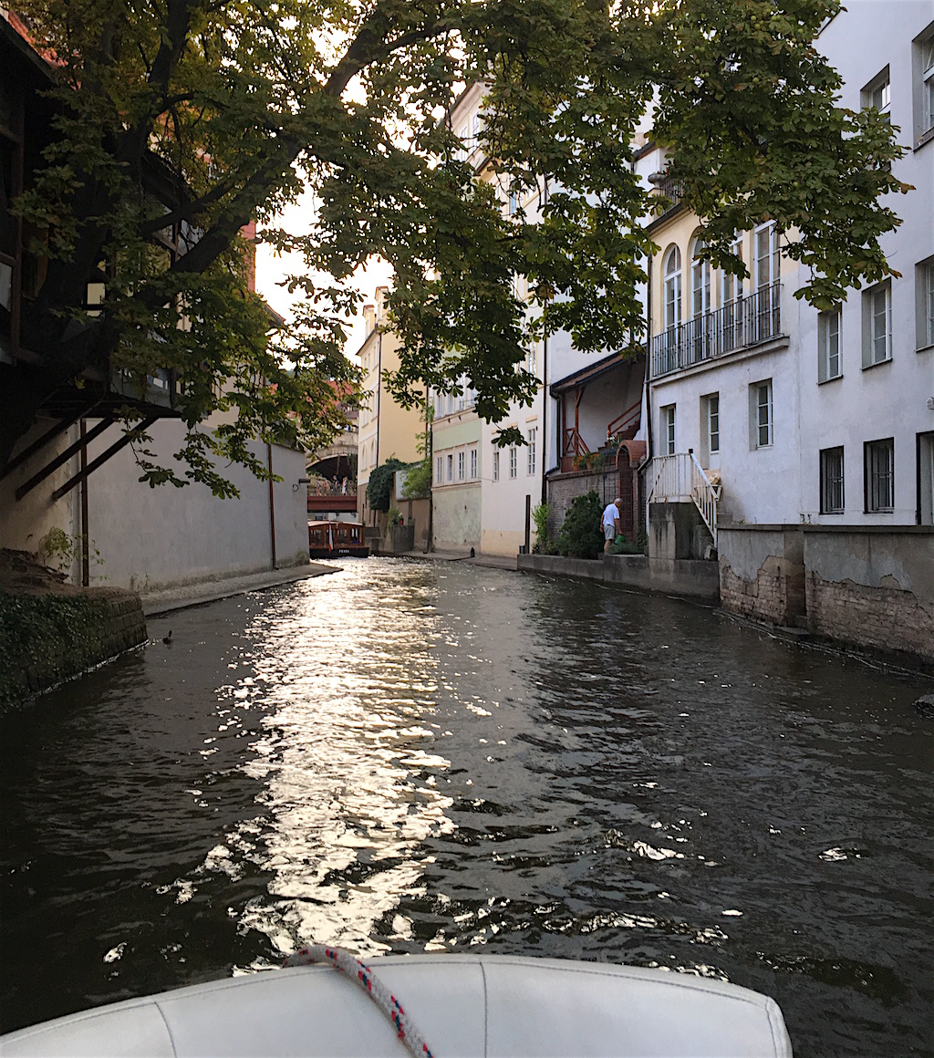 Certovka Canal Vltava River Prague