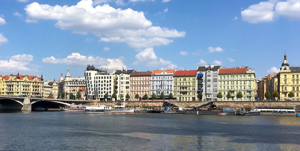 Vltava river dancing house prague