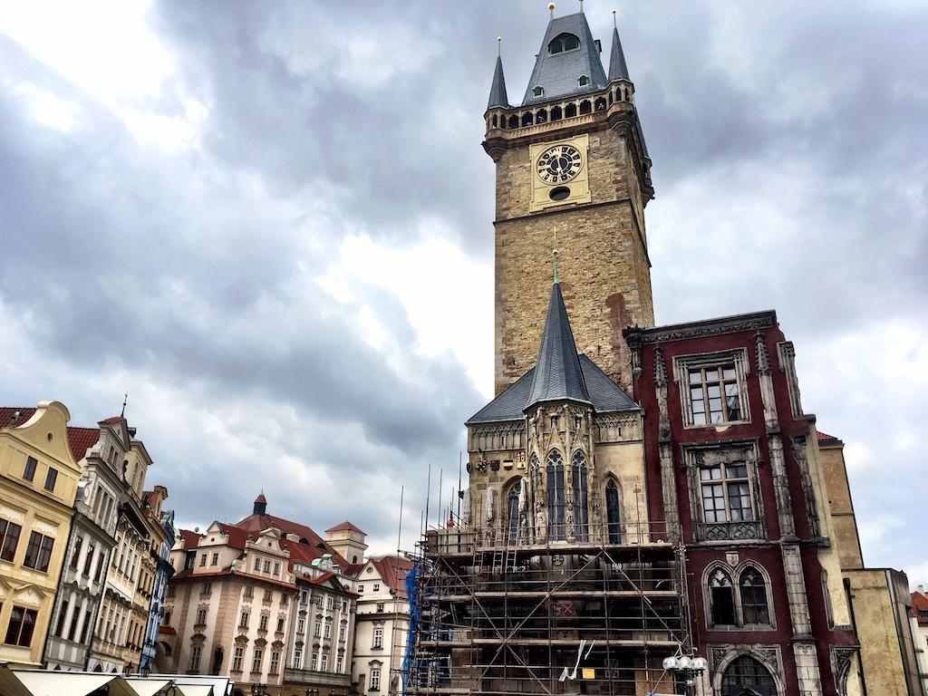 Town Hall tower Prague Czech Republic