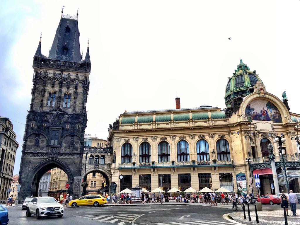 Prague powder tower municipal house